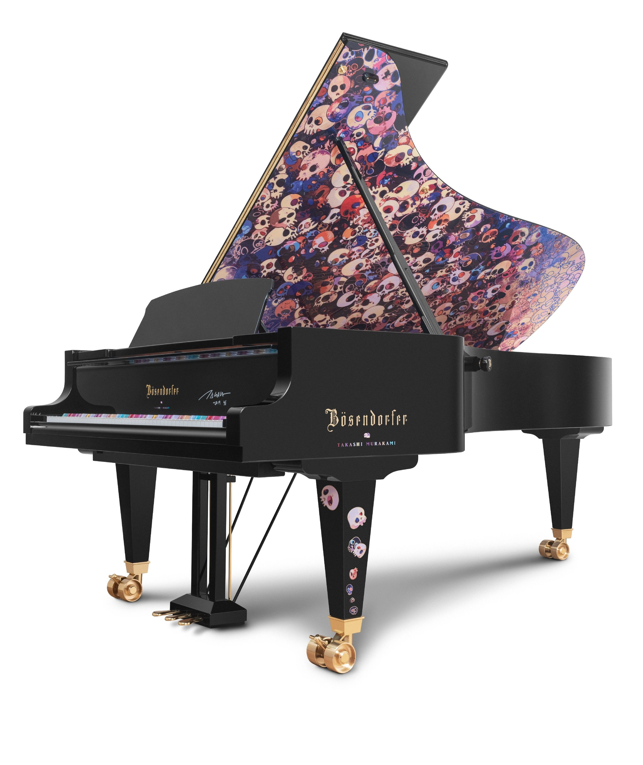 Floral Patterend Bosendorfer commissioned by rapper Drake